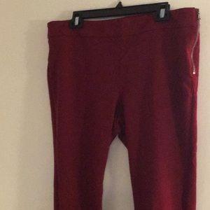 Ann Taylor Ponte knit side zip pants. Sz 16